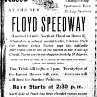 Stock Car Races at the New Floyd Speedway&lt;br /&gt;<br />