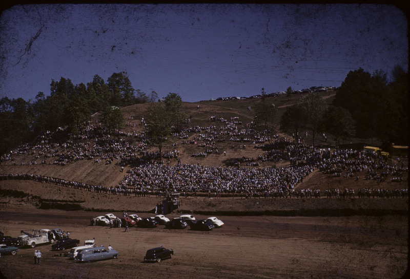 Pictures of a race at Floyd Speedway c. 1955