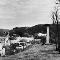 View of Mouth of Wilson on US Route 58 from old water tower (Mouth of Wilson, Grayson County)