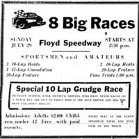 8 Big Races, Floyd Speedway