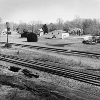 View of buildings on Antioch Road from railroad Tracks (Milford, Caroline County)