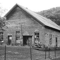Ellington Building, former R.J. Reynolds Company tobacco barn, viewed from Mendota Road (Mendota, Washington County)