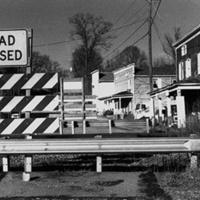 Railroad tracks split North and South Old Moneta Road (Moneta, Bedford County)